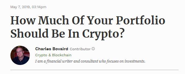 Crypto Portfolio Percentage?